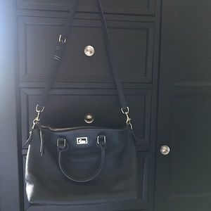 Navy Blue Dillen Satchel